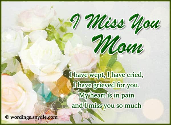 50 Best Missing My Mom Quotes From Daughter Son I Miss You Quotes